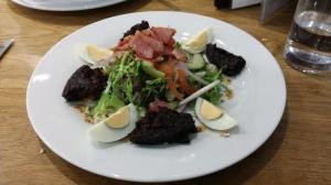Stornoway black pudding salad