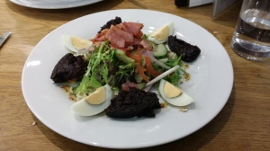 Stornoway black pudding salad
