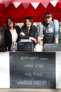 Vicky and Tania, pictured with Toby from Jones & Son Bespoke BBQ