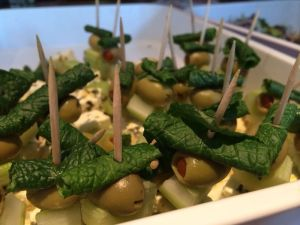 Marinated feta, olive, celery and mint