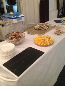 Oysters, lemon and Danielle's bread